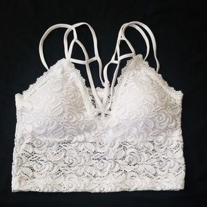 White Lace Bralette Crop Top